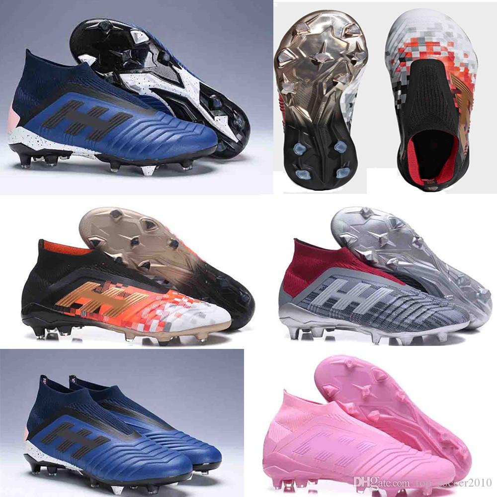 Original Soccer Cleats Predator Telstar 18+ FG Mens Football Boots Pogba  Soccer Shoes Crampons Chaussures De 2018 World Cup Football Cleats Soccer  Cleats ... 276a9c79c5c