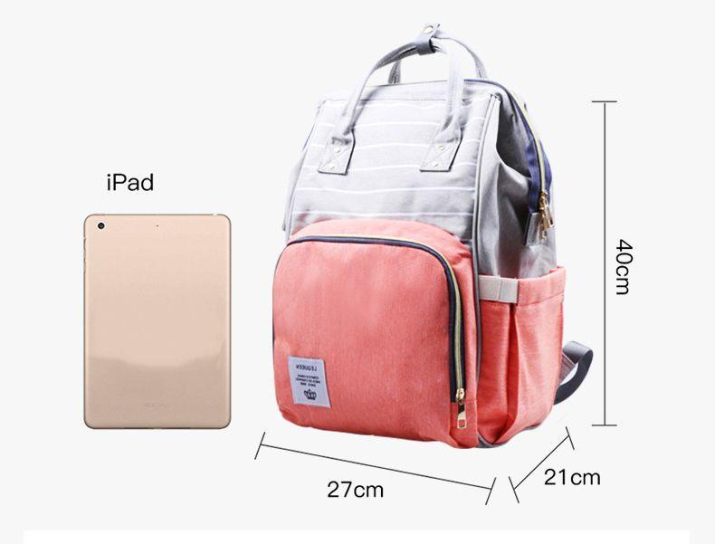 f6e7702c442ef New Fashion Lequeen Stripe Diaper Backpack Designer Nursing Care Baby Bag  Travel Nappy Bag Organizer Waterproof Maternity Patchwork Bag