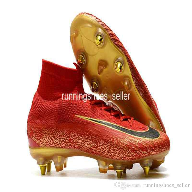 b3332187c 2019 2019 Mercurial Superfly VI 360 Elite SG Fly Knit Kids Mens Soccer  Cleats Cr7 Chaussures Crampons De Football Botas De Fútbol Eur 39 45 From  ...