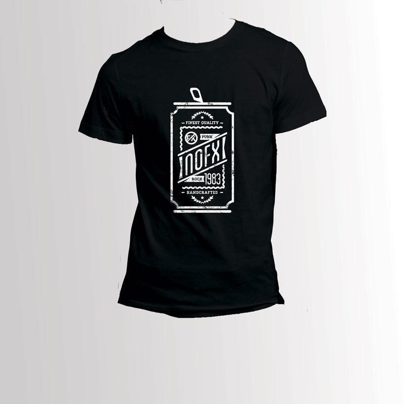 95b8ac2ba0f6 Nofx Beverage Cans Logo T Shirt Men'S Tee Tees Custom Jersey T Shirt ...