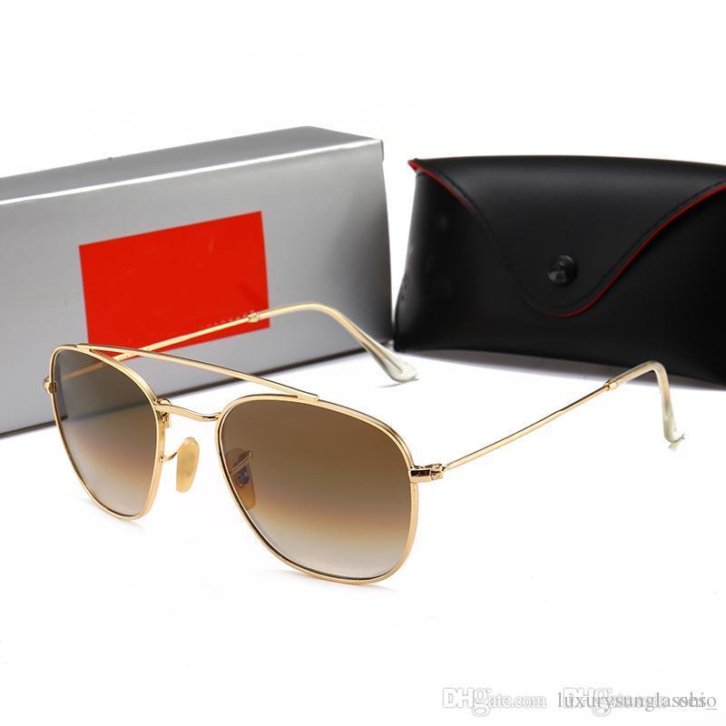 b369198c00a Glass Lens R1809 Hot Sale Aviator RAY 2019 Vintage Pilot Brand Sun Glasses  Band Polarized UV400 BANS Men Women Ben Wayfarer Sunglasses Sport Sunglasses  ...