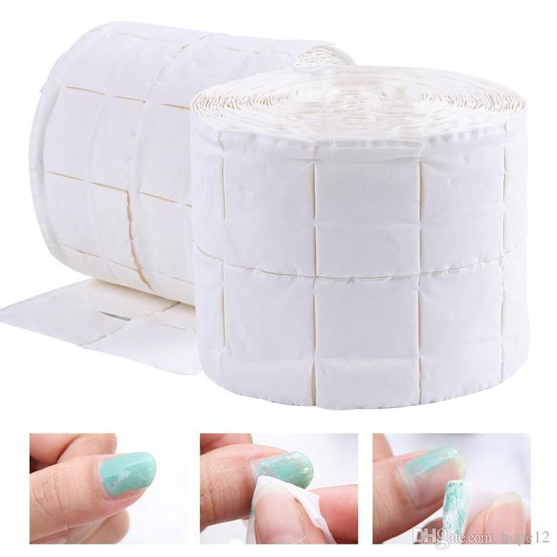 500pcs/roll Nail Cotton Wipes UV Gel Nail Tips Polish Remover Cleaner Lint Paper Pad Soak Nail Art Cleaning Manicure Tool