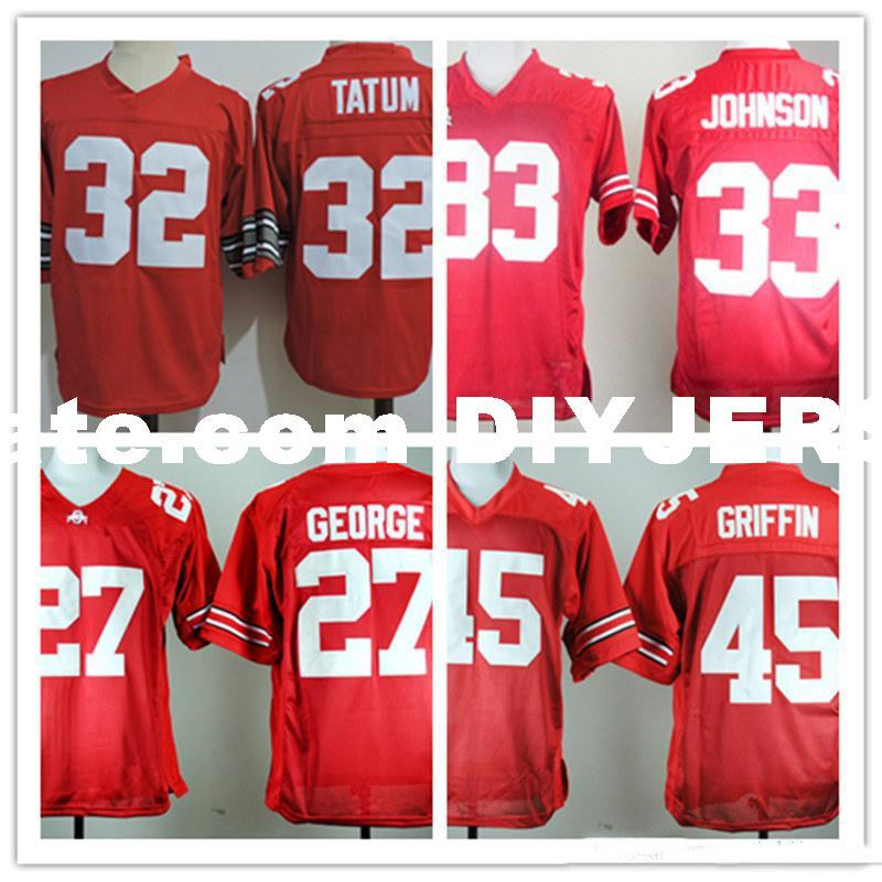 watch 2a8d5 51ca8 Mens NCAA Ohio State Buckeyes Eddie George College Football Jerseys Archie  Griffin Pete Johnson Jack Tatum Buckeyes Jersey S-5XL