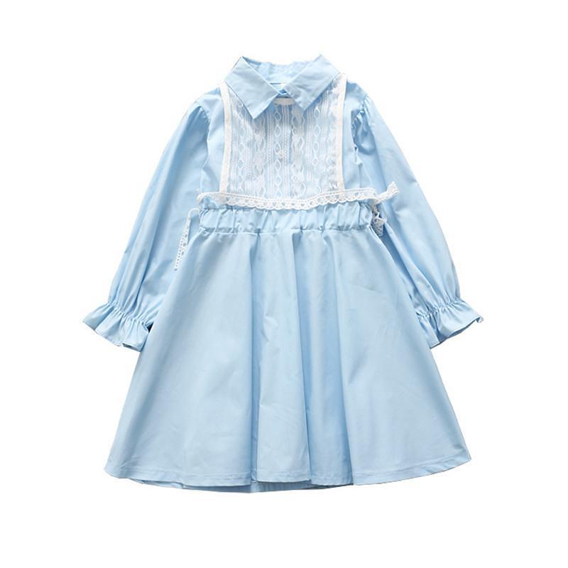 muy baratas Descubrir famosa marca de diseñador 0-6 años Vestido de niña de alta calidad 2019 primavera nueva moda de  encaje casual mangas llenas niños niños ropa princesa niña