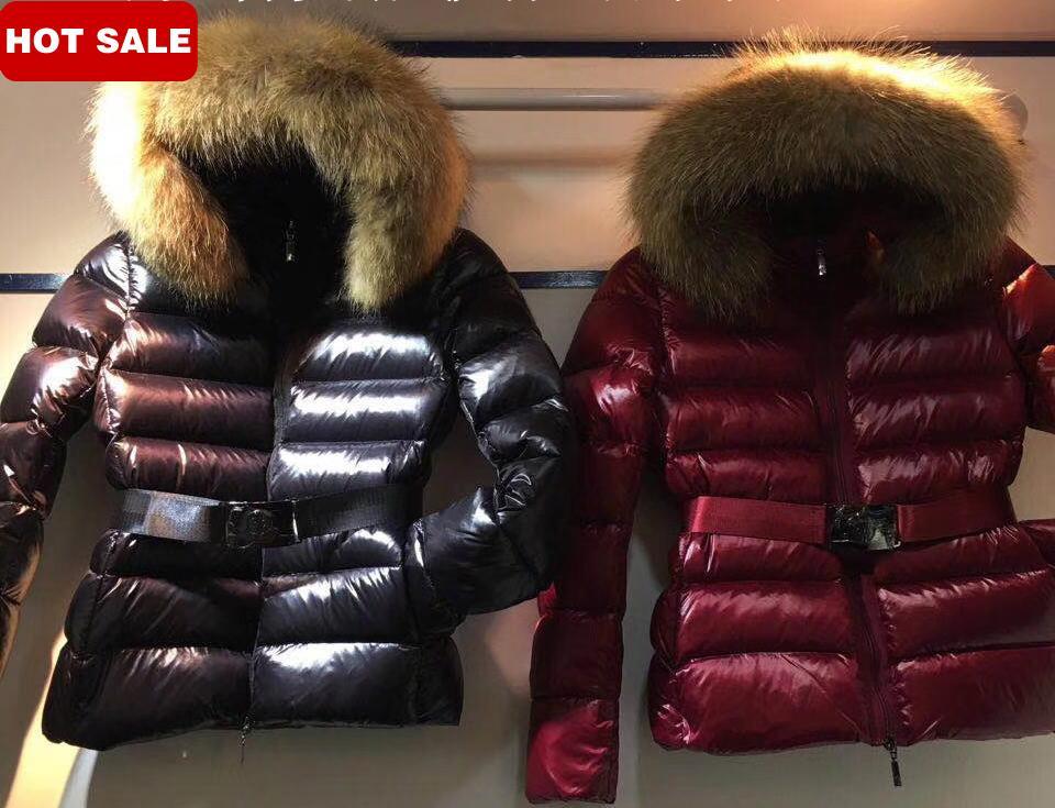 0119d4119 Ladies Down Coat Big Fur Collar Short Design Hooded Brand Women's Down  Jacket Winter Jacket Warm Fashion Lady's Coat