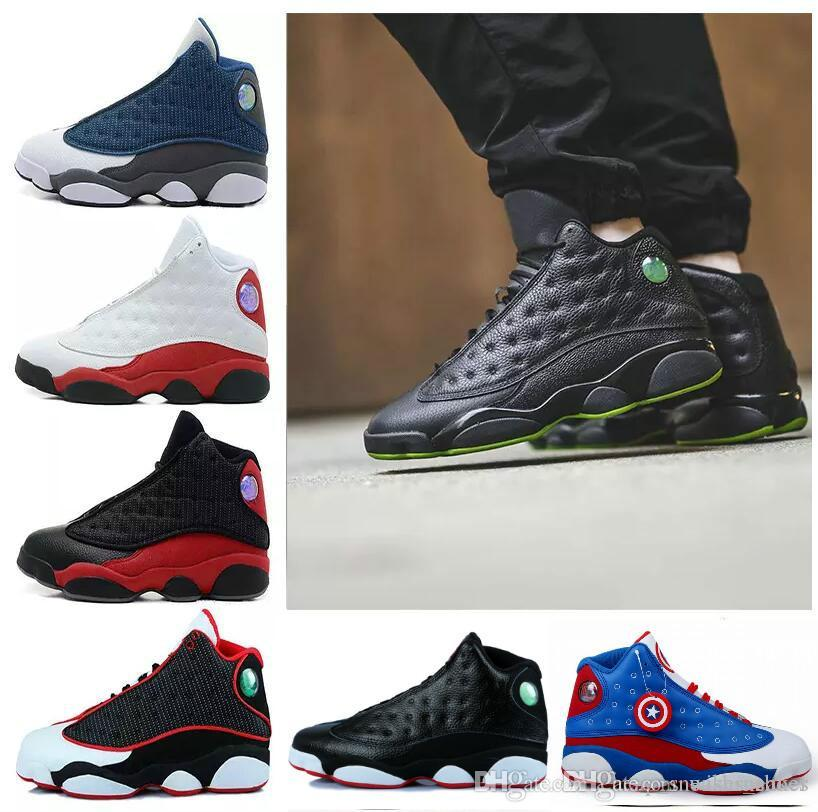 f45ddaa4fede4a New 13 13s Black Cat 3M Reflect Men Women Basketball Shoes 13s Flint Bred  Olive Gym Red Sneakers High Quality Cp3 Shoes Kids Sneakers From  Wishsneaker