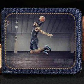 b5e7bf8d2e69 Acheter Portefeuille Slam Dunk LeBron James Billet De Caisse Court Billet  De Caisse Étui De Basket Ball Sac De Monnaie En Cuir Sac De Sac À Main En  Cuir ...