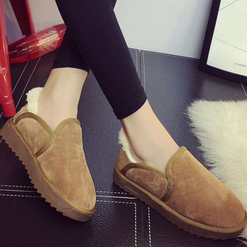 Moxxy Winter Fur Shoes Woman Man Plush Fur Slippers Rubber Flats Shoes Indoor Home Slippers Slip On Outside Woman 35-43