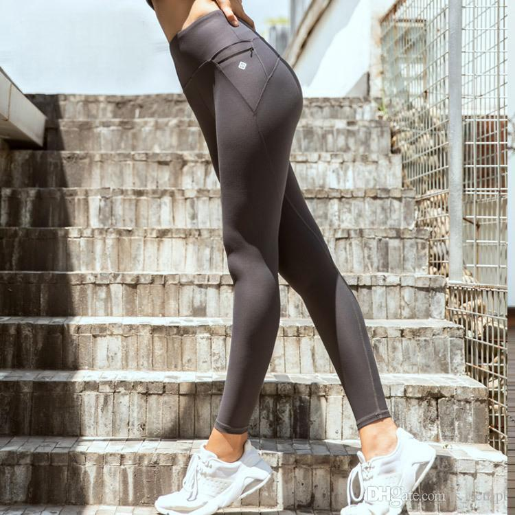 2020 2020 New Sports Gym Leggings Peach Hip Up Pants Side Pockets Bare Sense High Rise Skinny Yoga Pants For Women From S Sculpt 14 42 Dhgate Com