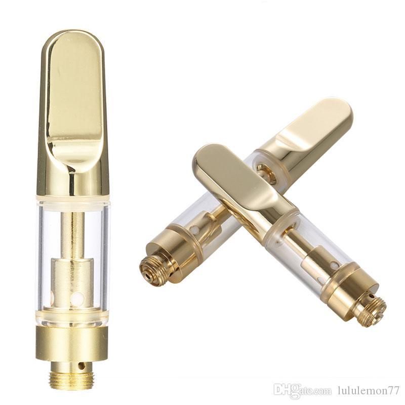 0 5ML 1ML Ceramic Vape Cartridge Empty Vape Pen Cartridges Oil Cartridges  Dab Pen Wax Vaporizer 510 Thread Electronic Cigarettes Atomizer
