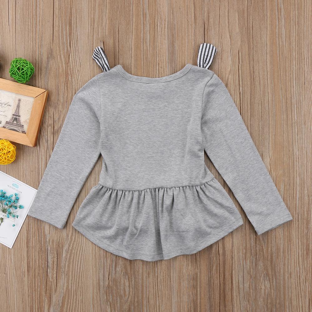 Pudcoco Marke Fall Nette Kind-Kind-Baby-Kleid Bebes Kleidung Karikatur3d Cat Langarm-Partei-Kleid-Baby-Kleidung