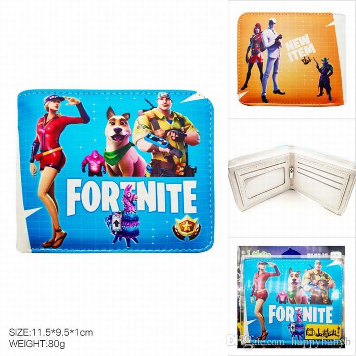 Compre Kids Fortnite 3d Pu Monedero Monedero 2018 Nuevos Ninos Juego