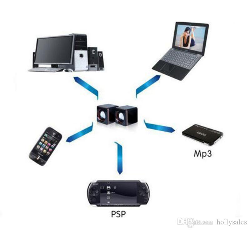NEW البسيطة المحمولة السلكية الكمبيوتر اللوحي USB رئيس الوسائط المتعددة المتحدثون صوت ستيريو لأجهزة الكمبيوتر المحمول PC الهاتف 3.5MM AUX