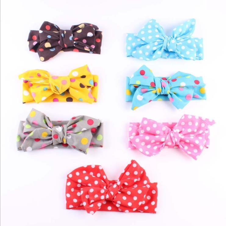 hair bows for kids fashion cloth dot designer headbands baby girls famous frenulum headband big butterfly children hair accessories