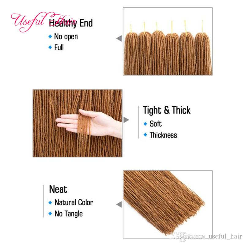 "DIY Dreadlocks ombre blonde Crochet hair extensions DREADS LOCS long synthetic hair weave 18"" braiding hair Sister Micro Locks straight"
