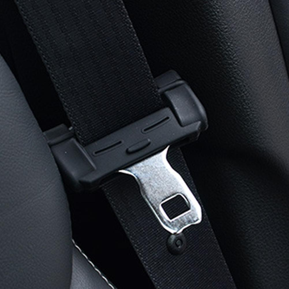 2PCS Protector Clip Anti-scratch Car Seat Belt Buckle Silicone Interior Accessories Seat Padding Auto Universal Cover