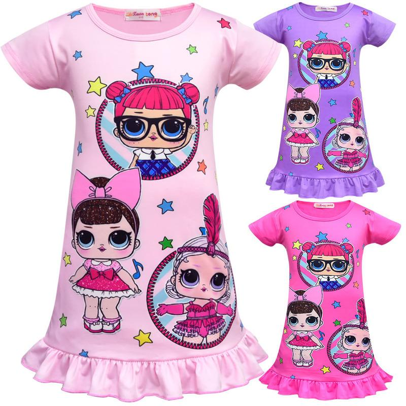 45278904a60d 2019 New Arrival Girls Lol Doll Dress Party Holiday Children Clothes ...