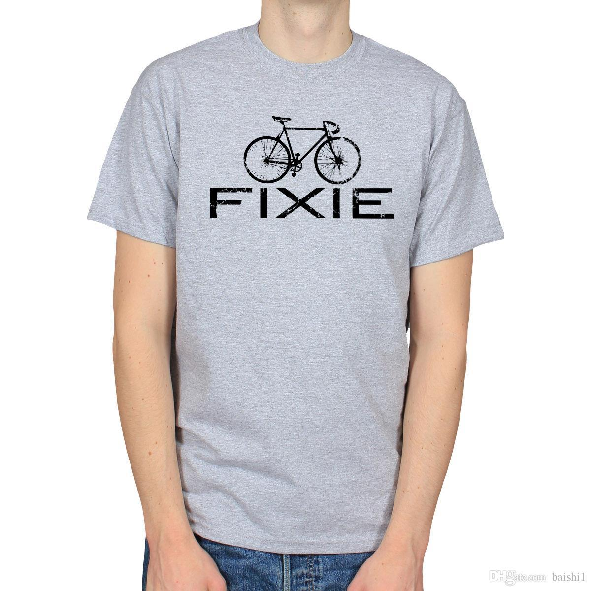 6b15a882d78d75 Acquista FIXIE BIKE FIXED GEAR BICYCLE SINGLE SPEED CYCLING HIPSTER T SHIRT  TEE Ment Shirts Summer Style A $14.67 Dal Jie62   DHgate.Com