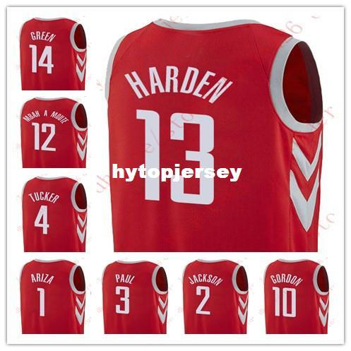 2019 New 2017 18 Chris Paul James Harden Demetrius Jackson Eric Gordon  Gerald Green Jersey Luc Mbah A Moute Tucker Trevor Ariza Red Jerseys NCAA  From ... 2b27fe555