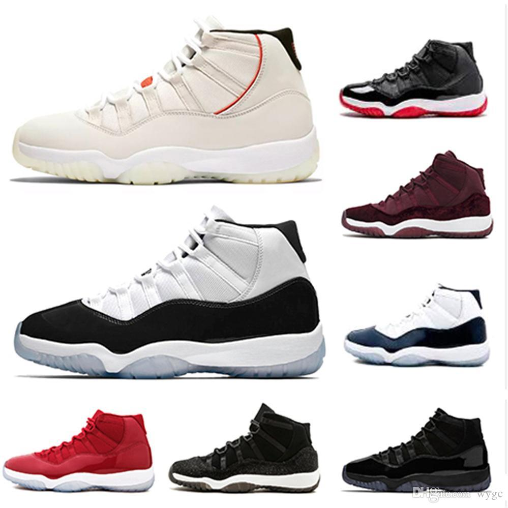 0119e708126c With Box Concord High 45 11 XI 11s Cap And Gown PRM Heiress Gym Red Chicago  Platinum Tint Space Jams Men Basketball Shoes Sports Sneakers Running Shoes  ...