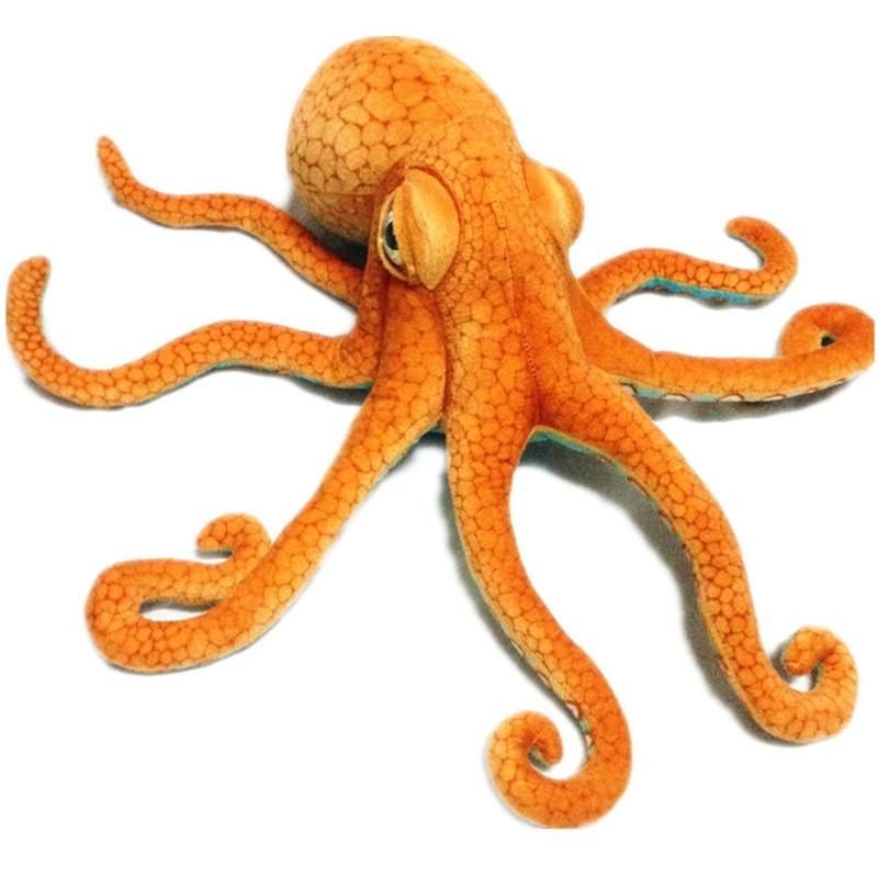 1Pcs 80CM Big Funny Cute Octopus Squid Stuffed Animal Soft Plush Toy Doll Pillow Decoration Gift Home decoration pendant