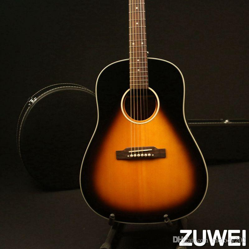 Acoustic Guitar Solid Spruce Top Bone Nut &Saddles 20