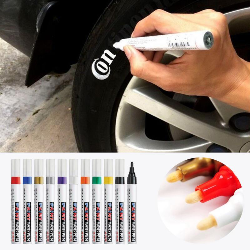Car Paint Repair Pen Graffiti Paint Pen Oily Tire Touch Up Graffiti Sign In Scratch Remover Ceramic Car Coating