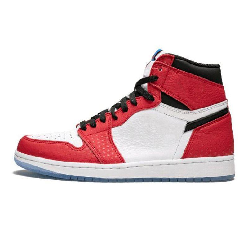 lowest price 5053d 7fdf6 Nike Air Jordan 1 Spiderman X 1 OG Zapatos De Baloncesto Para Hombre Mujer  2019 Mejor Calidad 1S High Chicago Sports Designer Sneakers Con Caja US5.5  13 Por ...