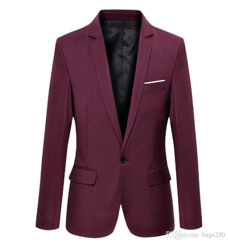 Quality Men Blazers 2019 Autumn Men's Tuxedos For Formal Occasions Coat Male Custom Men's Business Blazers