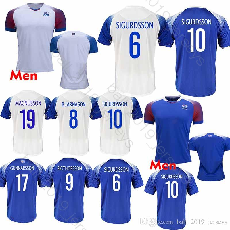 5ccd48545 2019 2018 World Cup Iceland Soccer Jersey 6 GUDMUNDSS 9 SIGTHÓRSSO 10 G. SIGURDSSON 21 TRAUSTASON Club Team Football Uniform From Ball 2019 jerseys