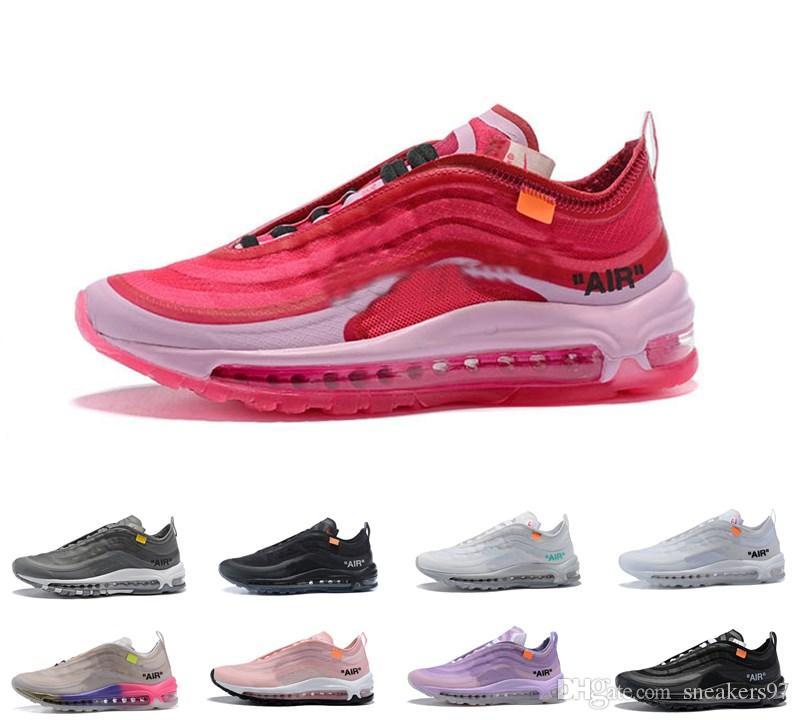 wholesale dealer 36ae4 67c6f Compre 2019 Estilo De 97 OG Zapatos Al Aire Libre Reina Menta Negro Blanco  Para Hombre Para Mujer 97S Zapatillas De Deporte Trainer Zapato Al Aire  Libre ...