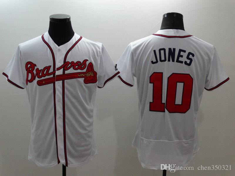 a0462dcab 8 Styles Mens Atlanta Braves Majestic Cool Base  10 Chipper Jones ...