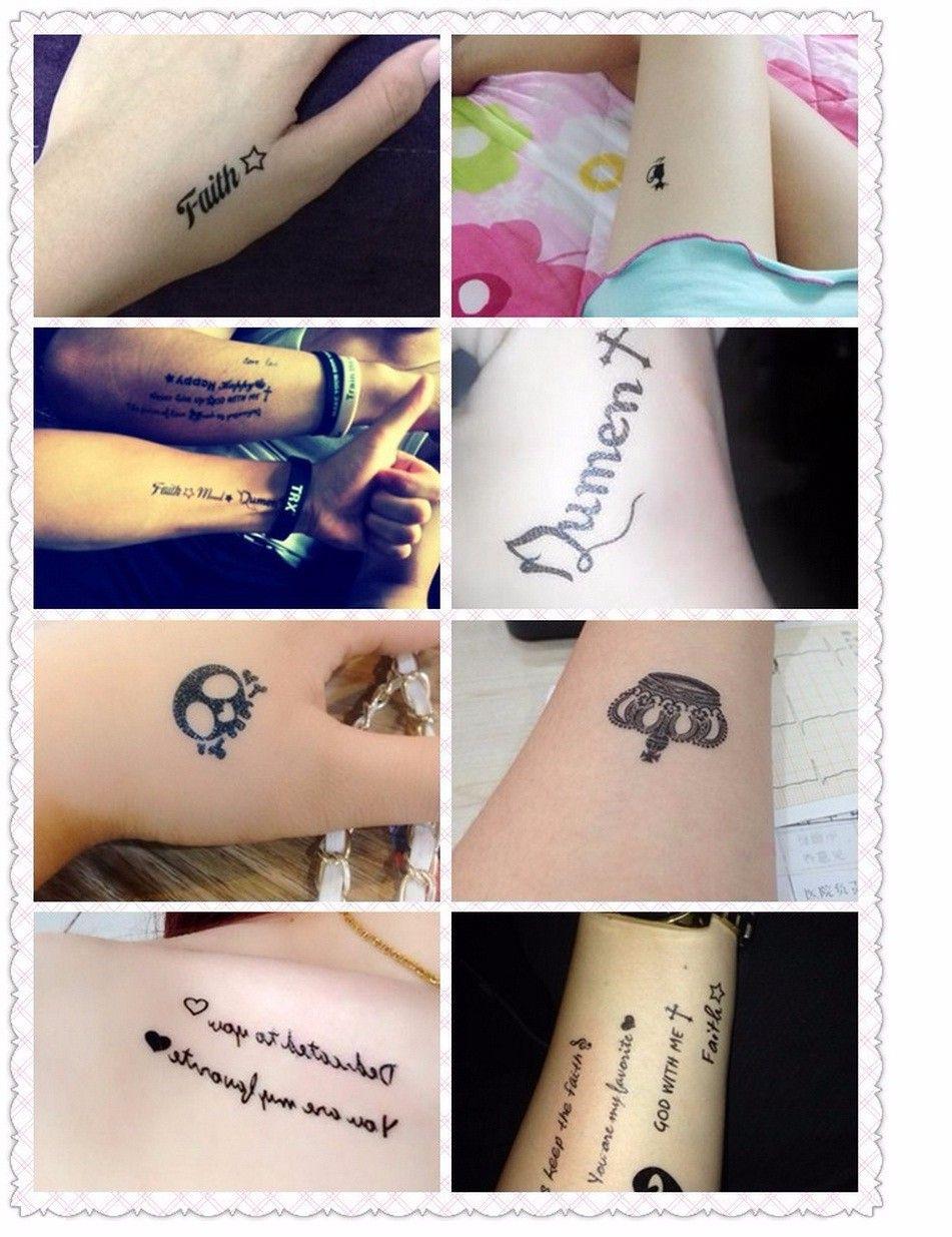 Alphabet Temporary Tattoo Body Art Sleeve Arm Flash Tattoo Stickers 10.5*6cm Waterproof Tatto Henna Tattoo Fake Tatoo Sticker
