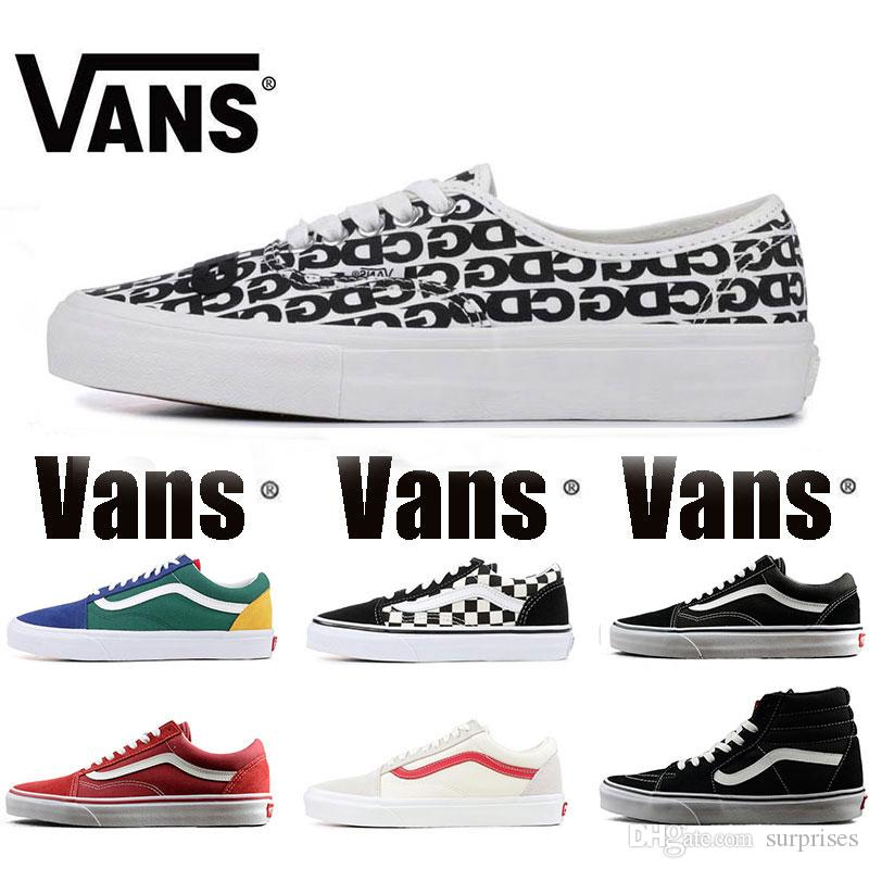 740f0f75e7 Großhandel New Original Vans Alte Skool Sk8 Hallo Mens Womens Canvas  Sneakers Schwarz Weiß Rot YACHT CLUB MARSHMALLOW Mode Skate Casual Schuhe Größe  36 44 ...