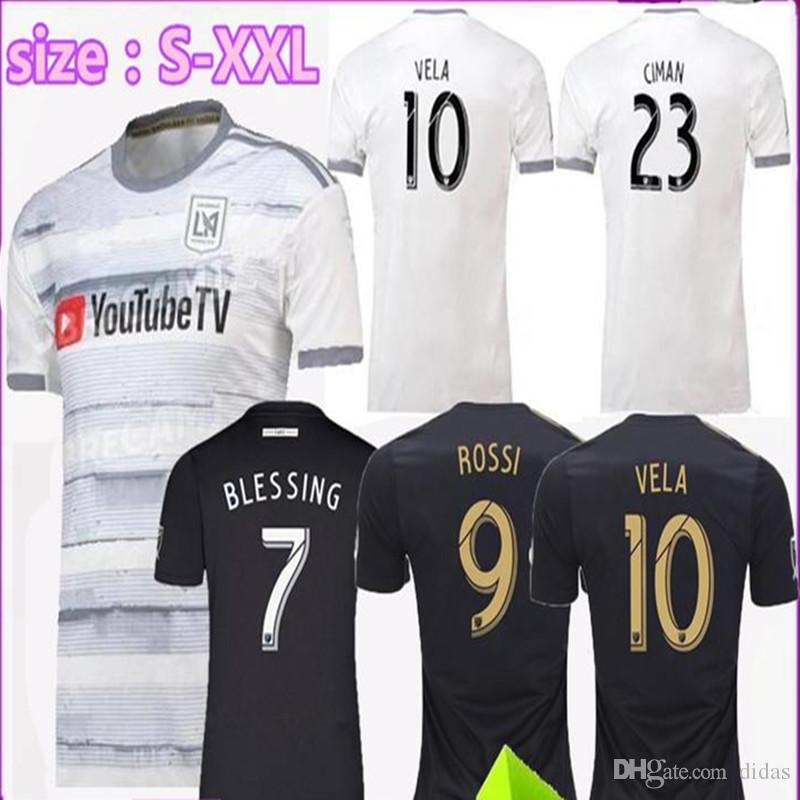 Special Version 2019 2020 Los Angeles Fc Home Away LAFC Soccer Jerseys 19  20 ZIMMERMAN GABER ROSSI CIMAN VELA FOOTBALL SHIRTS Free Ship UK 2019 From  Didas ddc726f0c