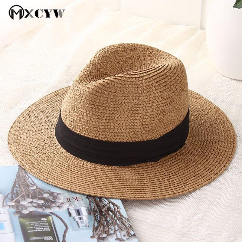 a6f7a575a 2018 New Fashion Summer Women Sun Caps Straw Hat Female Casual Panama Hat  Sunhats Jazz Beach Hats Chapeau De Paille Femme #47564