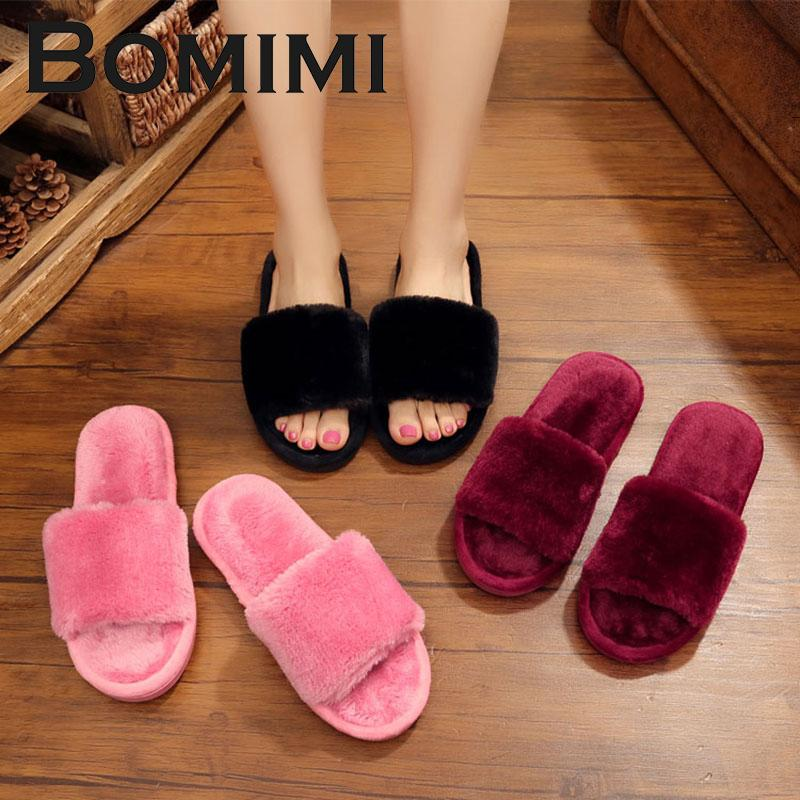 0aac96c38 BOMIMI Women Cotton Slippers S Winter Shoes Big Size Home Slipper ...