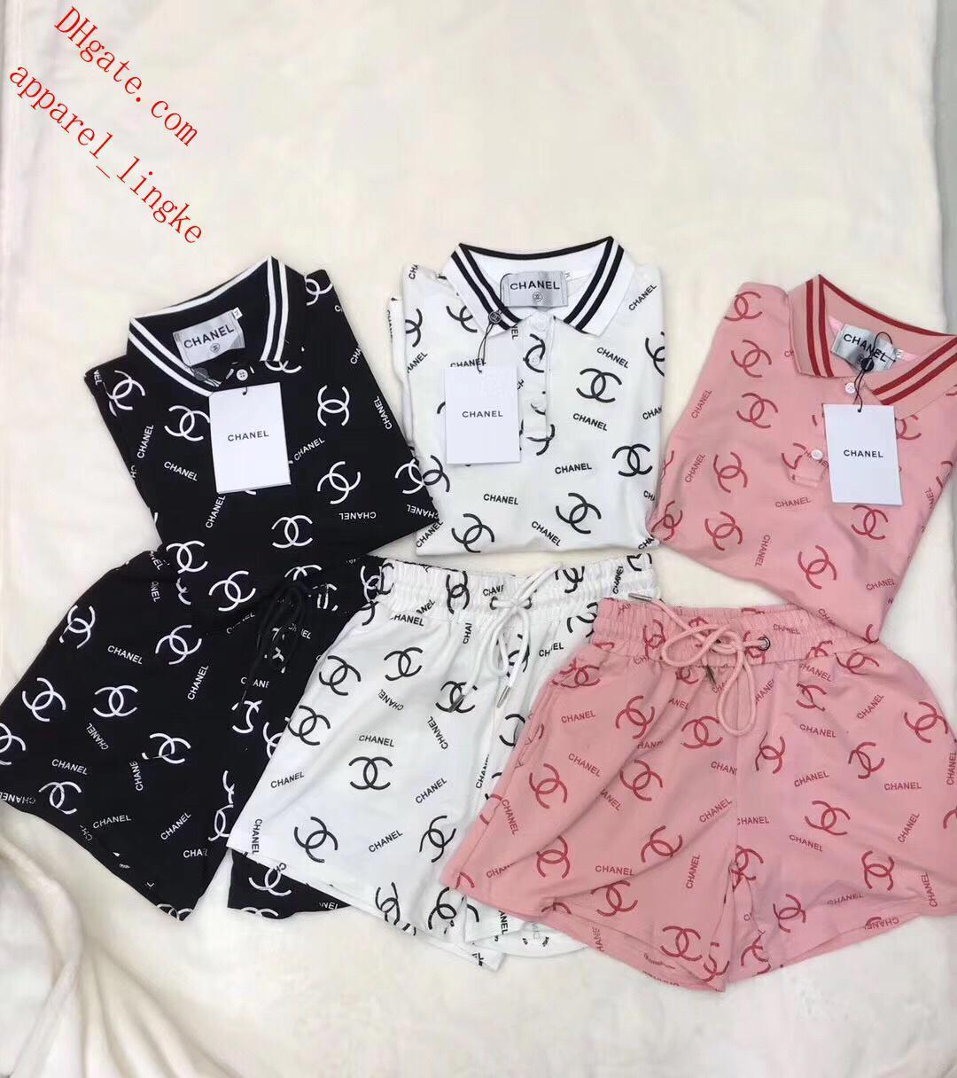 women two piece shorts sets Tracksuit Clothing set letter print casual short sleeve leggings sport suit costumes short pants DR-O4