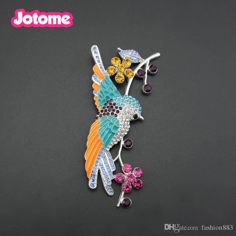 Fashion Women Colorful Enamel Metal Flying Bird Animal Brooch Pin ... 73dd91b20295