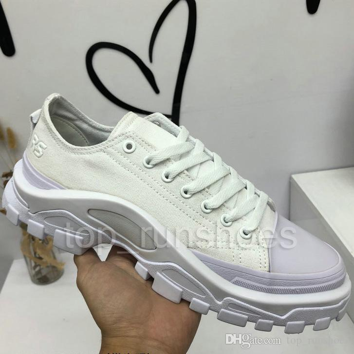 Raf Simons Spring Copper White Black Fashion Casual Shoes RS Detroit Canvas Brand Woman Man shoes Flats Cycling Shoes Size Eur40-45