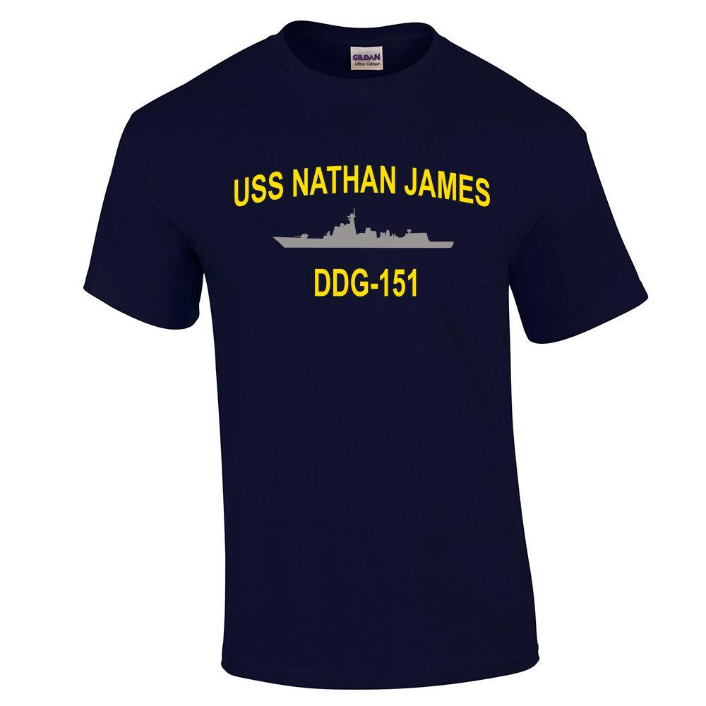 USS Nathan James T Shirt The Last Ship TV Captain Chandler Tee Funny free  shipping Unisex Casual