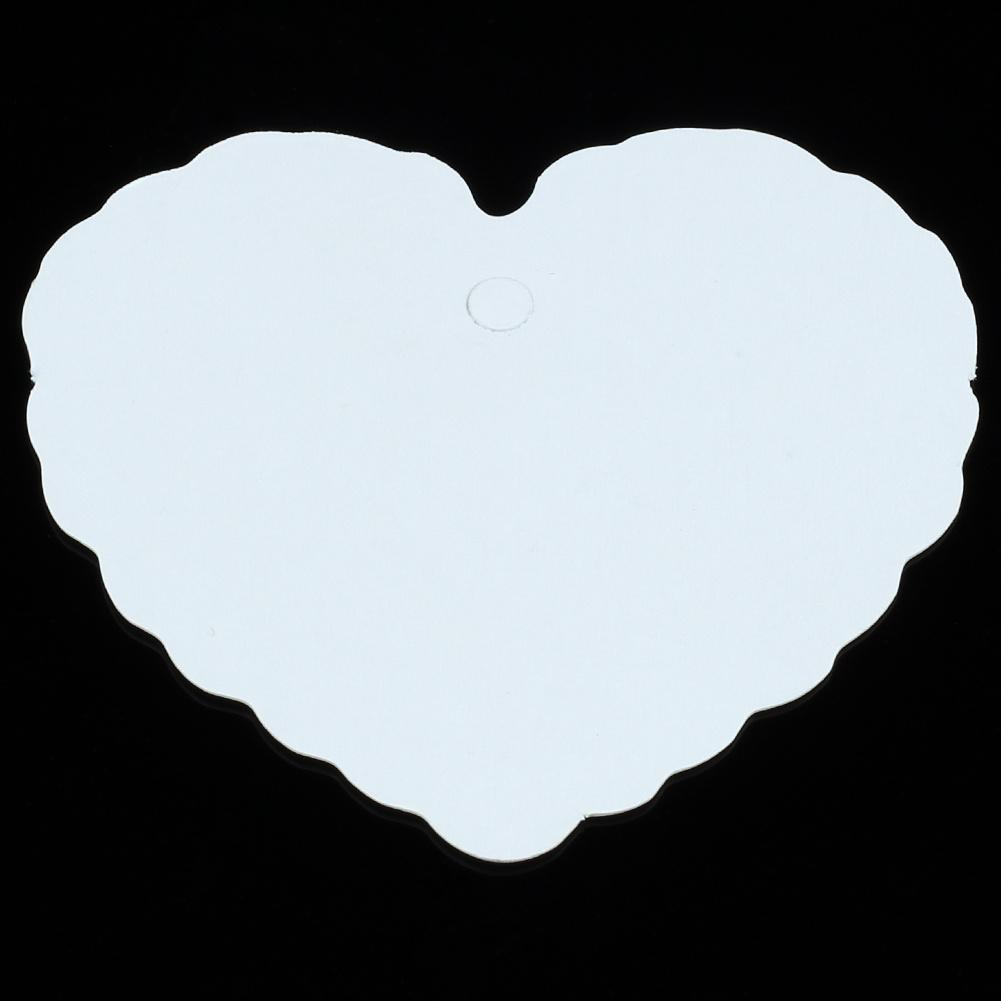 Blank White Heart Shape Kraft Paper Hang Tags Price Gift Cards Wedding Party Name Label Decoration Favors 5.5x6cm