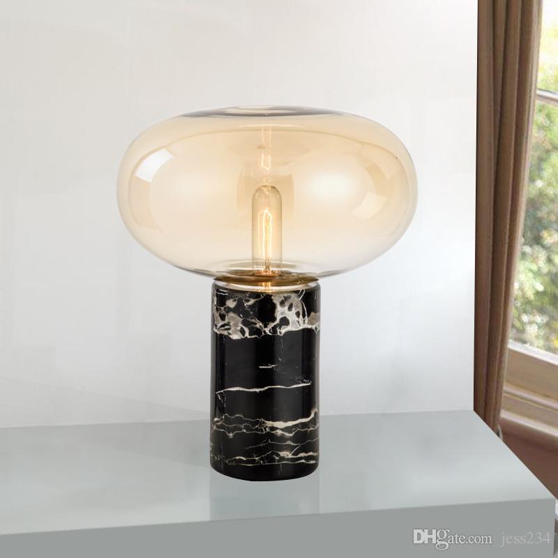 creativo lámpara de de lámpara Cognac la gris moda decoración para Mesa junto a de LED AU mesa dormitorio Diseño EEUU mármol UE plateada uK31JTl5Fc