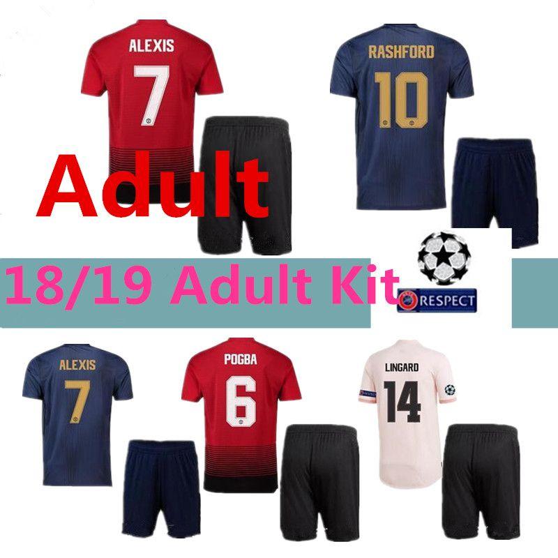 Adult Suit MANCHESTER UNITED 18 19 ALEXIS LUKAKU Champions League ... 820f51c9c