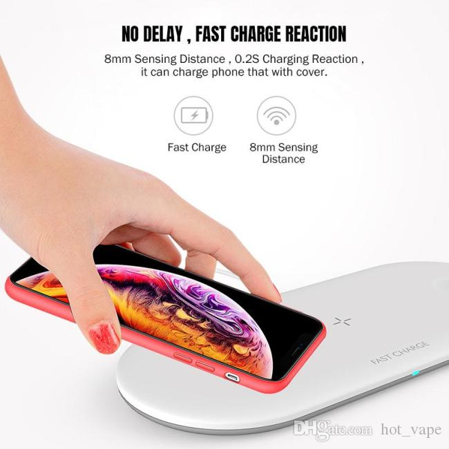 Min.QI Universal Wireless Charger Pad 3-In-1 10w Fast Charge For Cell Phone & Apple Series Watch and Earbuds Bluetooth