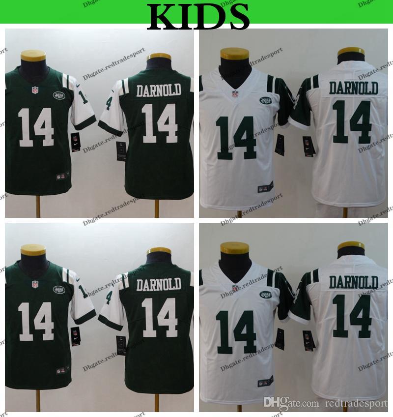 los angeles 0322e 9e6f0 Youth New York Kids Jets Sam Darnold Football Jerseys Home Green #14 Sam  Darnold Boys Stitched Shirts