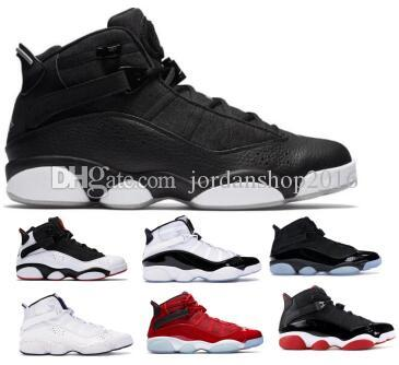 save off d6bc9 2e569 Six Rings 6 6s Basketball Shoes Sneakers Jumpman Concord Bred Black Ice Gym  Red Confetti Space Jam Mens Man 2019 Classic Athletic Shoes