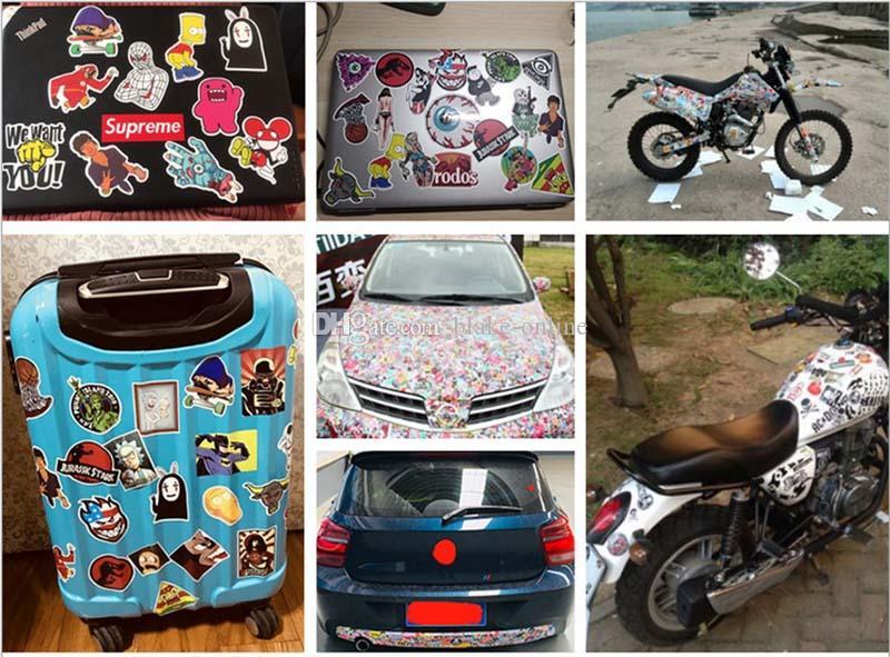 impermeable etiqueta engomada del coche Ins lindo literarias bricolaje Decal Pegatinas para el caso de la motocicleta de la carretilla monopatín de la tableta del ordenador portátil
