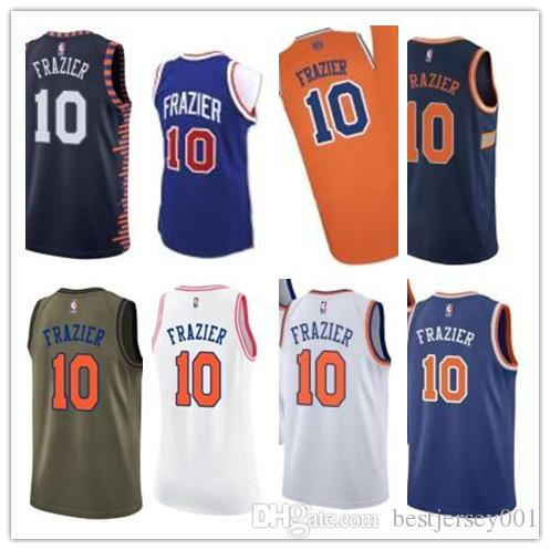 best service d93f2 3753b custom 2019 New York Knick Jerseys #10 Walt Frazier Jerseys  men#WOMEN#YOUTH#Men's Baseball Jersey Majestic basketball jersey