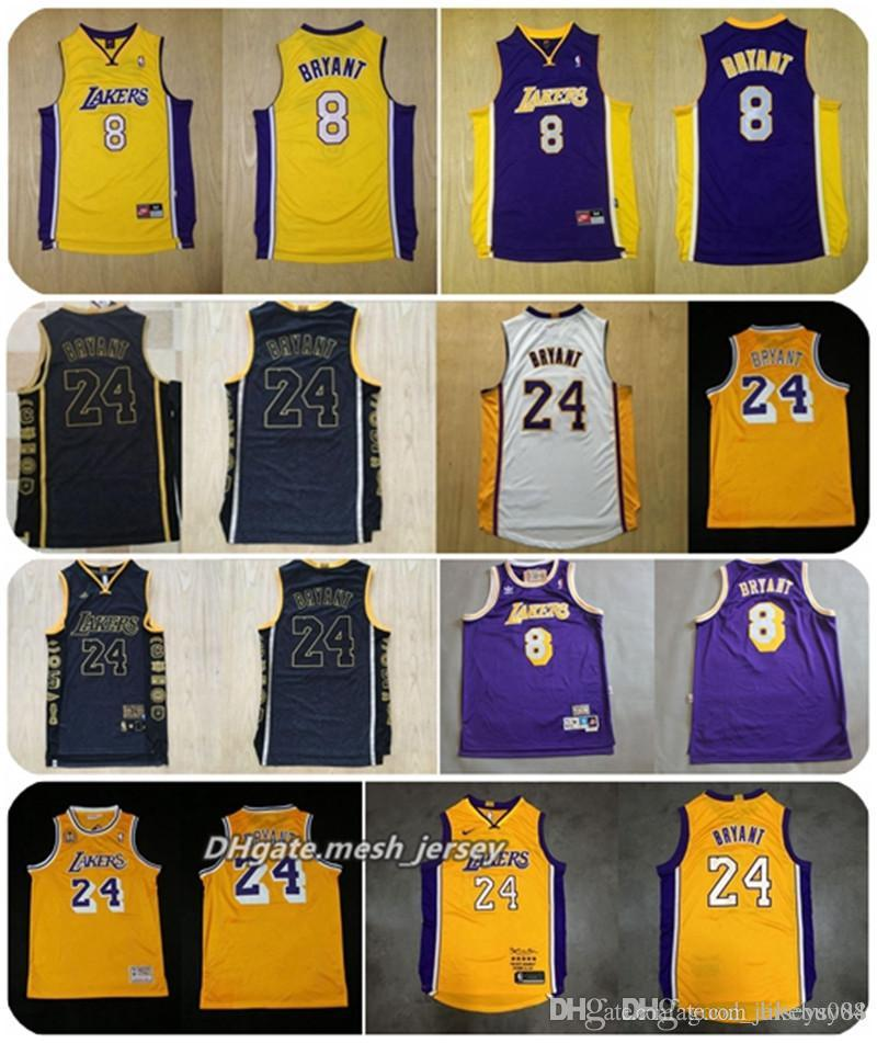detailed look a7c75 28413 Men LeBron 8 24 Kobe Bryant Basketball Retired Limited Edition Lakers  Jerseys James Dense AU Mesh Fabric Jerseys Dense Logo S-XXL Shorts